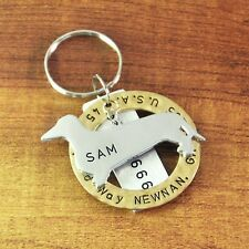 Personalized Dachshund Tag, Custom Dog Tag, Engraved Name Hand Stamped Circle