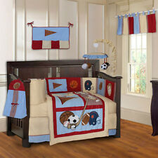 Sports Champion 10 Piece Baby Crib Bedding Set (Including Musical Mobile)