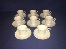 Yorkshire Fine China of Japan ~ Footed Cups & Saucers (8 Sets) ~ Excellent