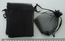 10 x black organza gift pouches/bags with drawstring