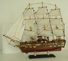 Raddampfer,Holz mit Stoffsegeln, Segelboot, Fregatte Dampfer Maritim Deko Neu