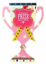 Sizzix Trophy Bigz L die #660262 Retail $29.99 Cuts Fabric, bonus emboss folder!