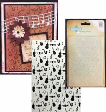 MUSIC embossing folder - Nellie Snellen folders EFE019 All Occasion instruments