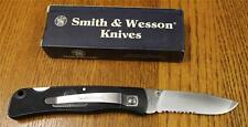 NEW NOS S&W Smith & Wesson SW510 Folding Pocket Knife Partially Serrated 4-7/8""