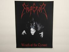 EMPEROR WRATH OF THE TYRANT BLACK METAL BACK PATCH