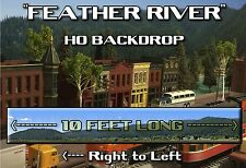 """Train Junkies HO  Feather River Mountains Background R2L  120""""X18"""" C10 Mint New"""