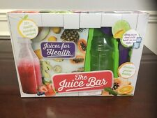 The Juice Bar Kit Juicing For Beginners Health Book Plus Juice Bottle NEW