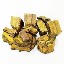 "2 lb lot Rough Golden Tiger Eye, 1"" Zentron™ Crystals"