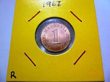 Malaysia 1 sen coin 1967 - UNC Tone