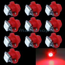 12V Red 10 Pcs T5 B8.4D 1 SMD Car Led Lights Indicator Side Dashboard Bulbs