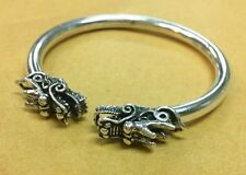 Dragon Bangle Bracelet 925 Sterling Silver Mens Womens Sz Open Fashion Head Cuff