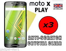 3x HQ CRYSTAL CLEAR SCREEN PROTECTOR COVER GUARD FOR MOTOROLA MOTO X PLAY 2015