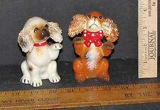 VINTAGE SET OF DOGS WITH PAWS UP SALT AND PEPPER SHAKERS 5482P