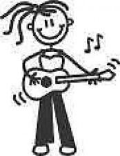 Sticker ~ MY FAMILY  Car Stickers  ~ OLDER GIRL ~ PLAYING GUITARS (OG11)