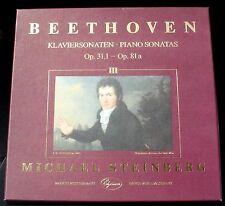 Beethoven Sonates piano III op 31/1 à op 81 Michael Steinberg 3 x LP NM/M, BX NM