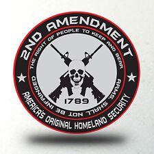 2nd Amendment Decal Sticker Bumper Molon Labe Right To Bear Arms USA America