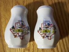 State of TEXAS Long Star Salt and Pepper Set CERAMIC