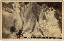 Photo Gabler Albuminé Montagne Grindelwald Suisse Vers 1890