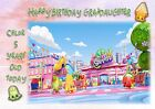 Personalised birthday card Shopkins any age daughter sister grandaughter e