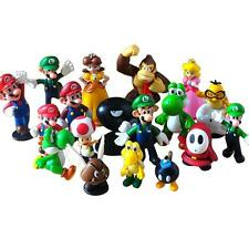 Super Mario Bros Princess Yoshi Luigi Lot 18 pcs Action Figure Cute Toy
