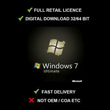 Microsoft Windows 7 Ultimate LICENCE RETAIL VERSION SP1 32/64 BIT UPDATABLE  !