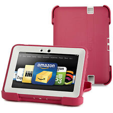 "OtterBox Kindle Fire HD 7"" 2012 Defender Case/Stand Pink White Cover New"