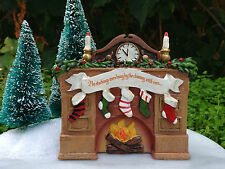 Miniature FAIRY GARDEN Mini Village ~ Night Before CHRISTMAS Fireplace Mantel