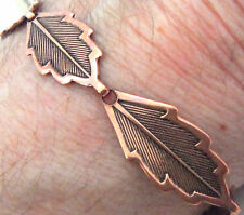 "Copper Bracelet 7.75"" Linked Wheeler Leaf Detox Arthritis Healing Folklore cb268"