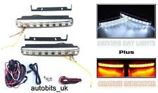 LED DRL Daytime Running Lights + Turn Signal Indicators 160mm car + WIRING KIT