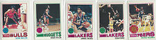 1977 Topps NBA 18 Card Lot NETS Bullets Cavaliers Bulls Nuggets Lakers 76ers +