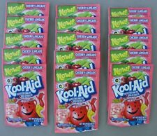 15 packets of KOOL-AID drink mix: NEW! CHERRY LIMEADE, powdered, UNSWEETENED