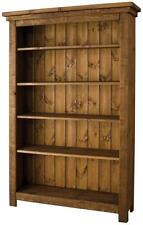 any size made SOLID WOOD CHUNKY RUSTIC BOOKCASE BOOKSHELVES PLANK PINE FURNITURE