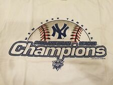 Vintage Rare 2000 New York Yankees American League Champions T-Shirt L Large NY