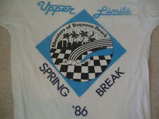 Vintage 80's 1986 Upper Limits Shooters Of Boynton Beach Spring Break T shirt M