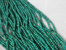 """4mm Blue Turquoise Round Beads 15.5"""" Strand"""