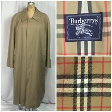 Burberry Mens NOVA CHECK 4 Season Trench Coat W/ Removable Wool Liner. 40R