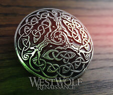 Celtic Tree of Life Brooch --- Viking/Medieval/Knot/Trees/Silver/Coat/Cloak Pin