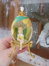 REAL Decorated Carved Goose Egg Fairy/Pixie Flower Garden Birthday Gift
