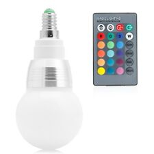 85-265V E14 10W RGB LED Light Color Changing Lamp Bulb + Remote Control new