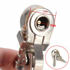 1x 8mm Car Tyre Inflator Valve Connector Air Chuck Ball Tire Clip Lock-on Silver