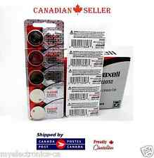 5 PC Genuine Maxell CR2032 DL2032 2032 3V Lithium L2032 SB-T51 Watch Battery