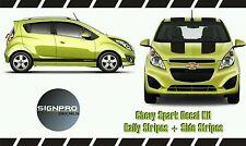 Chevy Spark Chevrolet Rally Racing Stripes + Side Rocker Stripes 2013-15 Custom