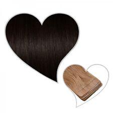 10 cinta en extensiones moreno#1B, 45 cm, 25 Gramos, Skin Weft Cabello natural