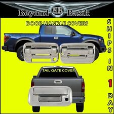 2004-2014 F150 Chrome 2 Door Handles 1KH W/Keypad + Tail Gate Covers W/Keyhole