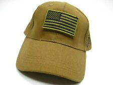 VOODOO TACTICAL Coyote BASEBALL CAP Hat Removable USA FLAG Patch! 20-935107000