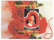 MARILYN MONROE VALENTINES DAY 2003 REPUBLIQUE DU BENIN MNH STAMP SHEETLET