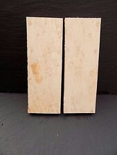 Birds eye maple booked matched couteau scales/knife making