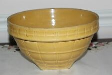 "McCoy Pottery 9"" Ware Yellow Early Mixing BOWL 9 Shield"