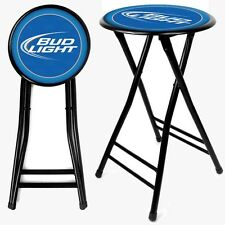 """Officially Licensed - Bud Light Folding Stool - 24 Inches Tall - 12.5"""" Diameter"""
