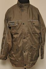 BELSTAFF TRIALMASTER NYLON MOTORCYCLE JACKET GREEN MEDIUM PART TARTAN LINING F71
